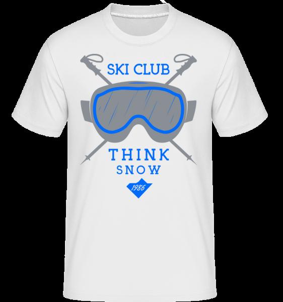 Ski Club Sign - Shirtinator tričko pro pány - Bílá - Napřed