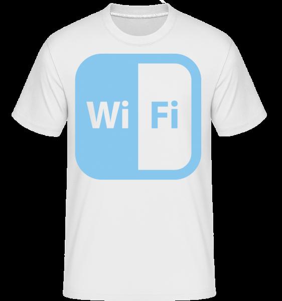 WiFi Icon Modrá - Shirtinator tričko pro pány - Bílá - Napřed