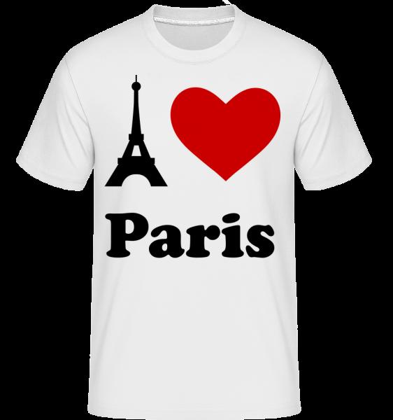 Miluji Paříž -  Shirtinator tričko pro pány - Bílá - Napřed