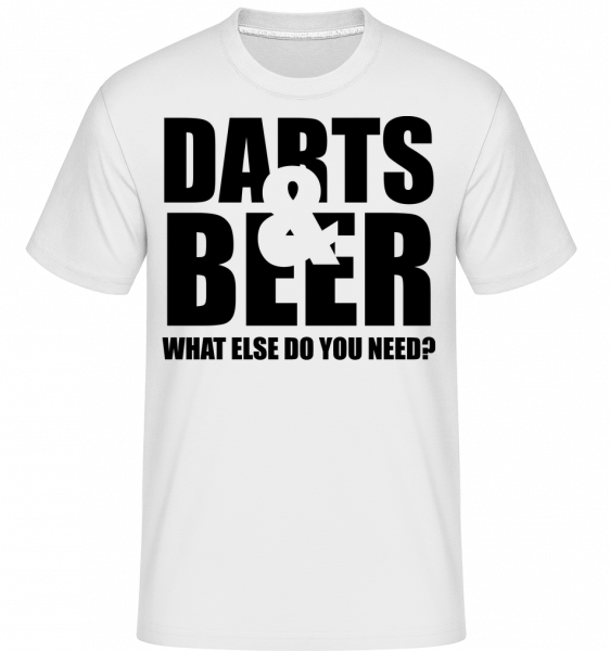 Šipky a pivo - Shirtinator tričko pro pány - Bílá - Napřed