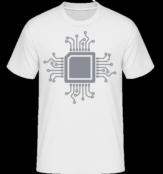 CPU Chip -  Shirtinator tričko pro pány - Bílá - Napřed
