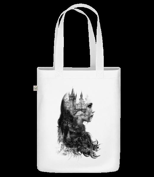 """Fantasy City Girl - Organická taška """"Earth Positive"""" - Bílá - Napřed"""