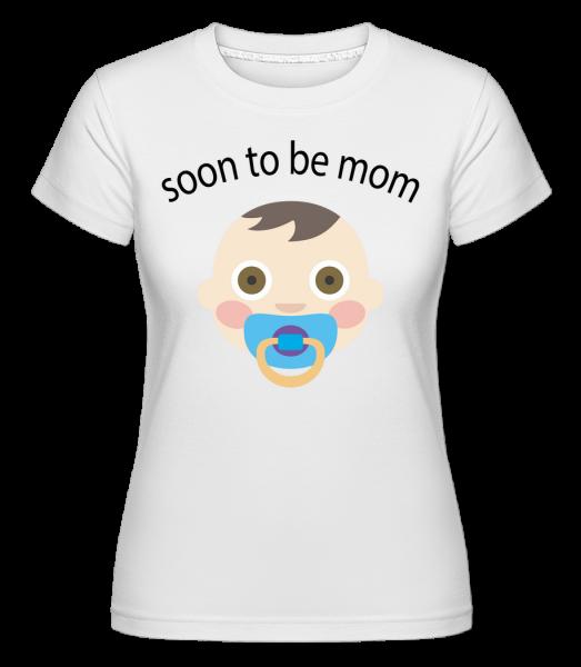 Bude brzy Mom -  Shirtinator tričko pro dámy - Bílá - Napřed