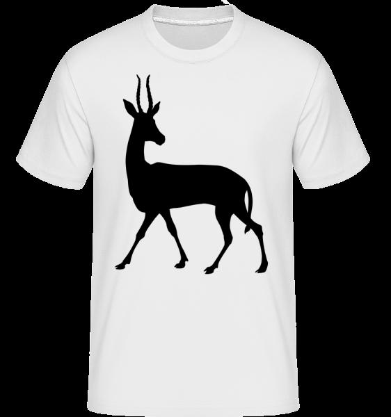 Shadow Deer Curious -  Shirtinator tričko pro pány - Bílá - Napřed