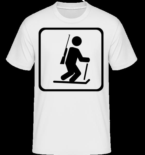 Biatlon Sign - Shirtinator tričko pro pány - Bílá - Napřed