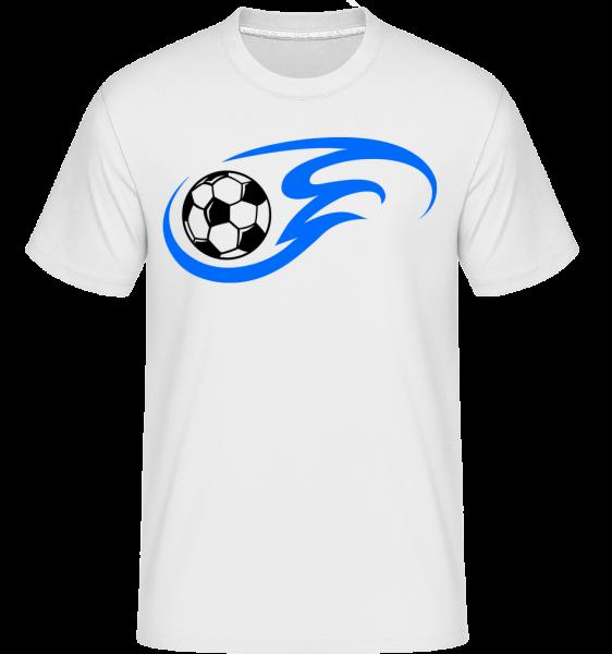 Football Flame -  Shirtinator tričko pro pány - Bílá - Napřed