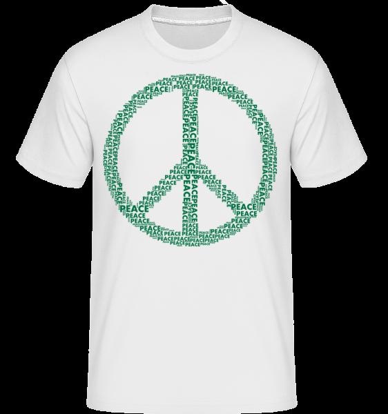 Znak míru - Shirtinator tričko pro pány - Bílá - Napřed