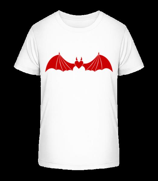 Ďábel srdce s křídly - Detské Premium Bio tričko - Bílá - Napřed