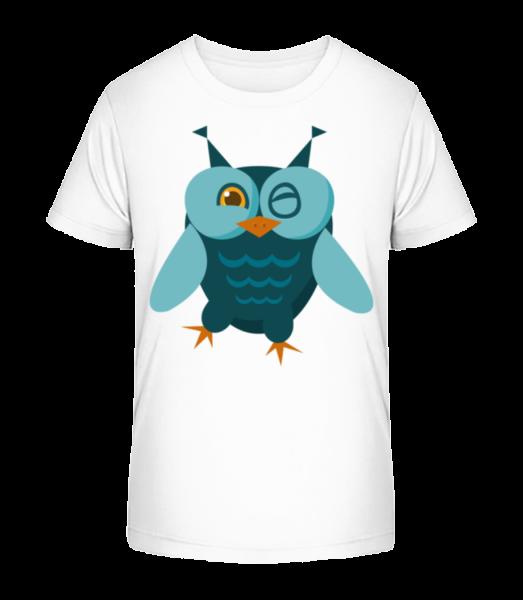 Owl Comic - Detské Premium Bio tričko - Bílá - Napřed
