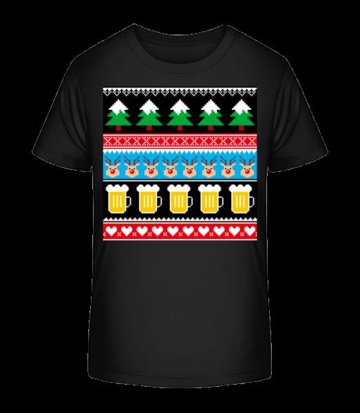 Ugly Christmas Symbols - Detské Premium Bio tričko - Černá - Napřed