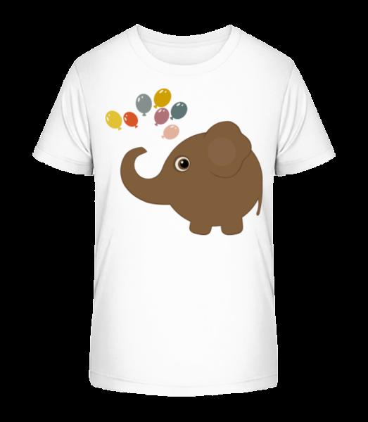 Děti Comic - Elephant - Detské Premium Bio tričko - Bílá - Napřed
