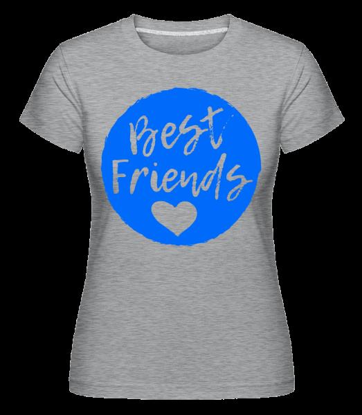 Best Friends Love -  Shirtinator tričko pro dámy - Melirovĕ šedá - Napřed