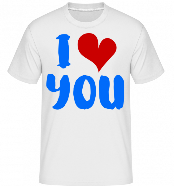 Miluji tě -  Shirtinator tričko pro pány - Bílá - Napřed