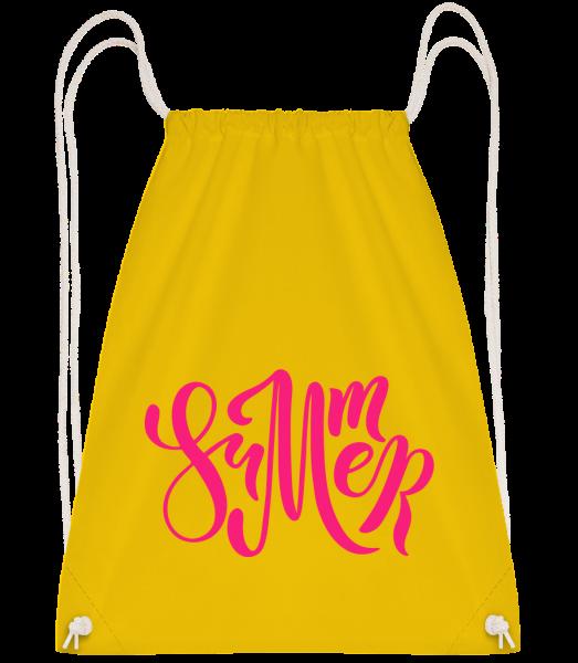 Pink Summer Sign - Drawstring batoh se šňůrkami - Žlutá - Napřed