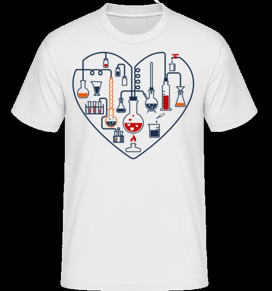 Science Láska -  Shirtinator tričko pro pány - Bílá - Napřed