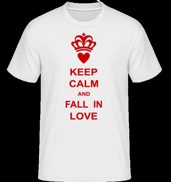 Zachovat klid a zamilovat -  Shirtinator tričko pro pány - Bílá - Napřed