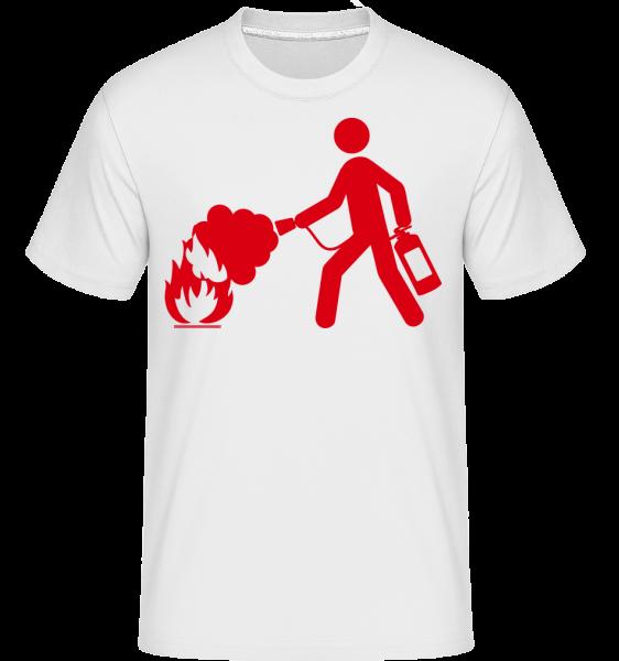 hasič Sign -  Shirtinator tričko pro pány - Bílá - Napřed