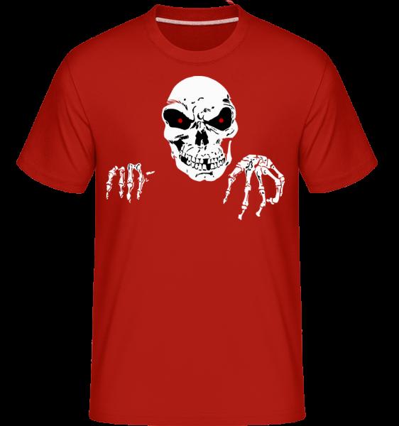 Creepy Death - Shirtinator tričko pro pány - Červená - Napřed