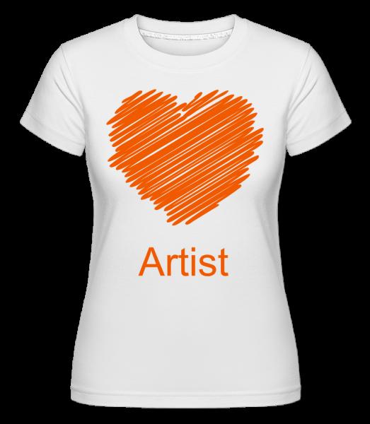 Artist Heart - Shirtinator tričko pro dámy - Bílá - Napřed