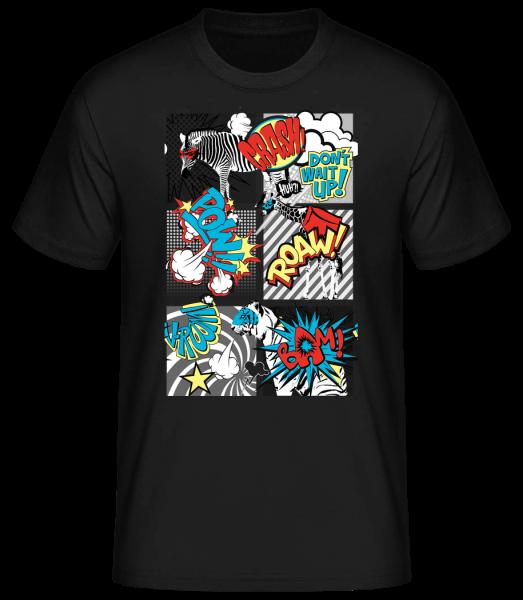 Kreslená zvířata - Basic T-Shirt - Černá - Napřed