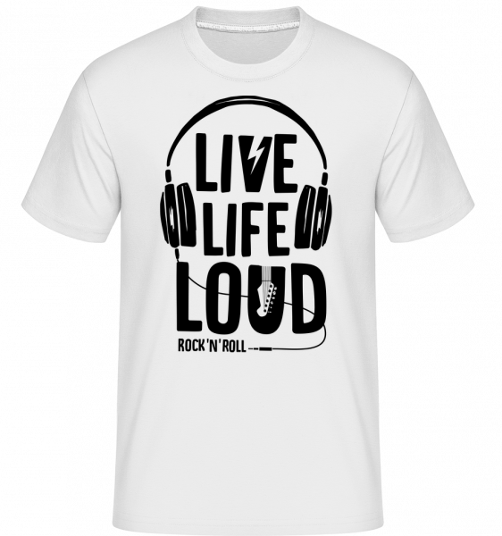 Žít život nahlas - Shirtinator tričko pro pány - Bílá - Napřed