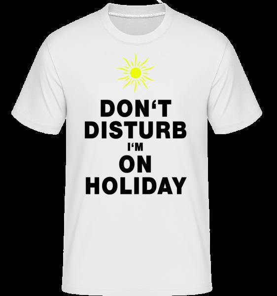 Nerušit, že jsem na dovolené - Sun -  Shirtinator tričko pro pány - Bílá - Napřed