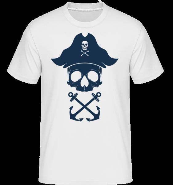 Pirate Skull -  Shirtinator tričko pro pány - Bílá - Napřed