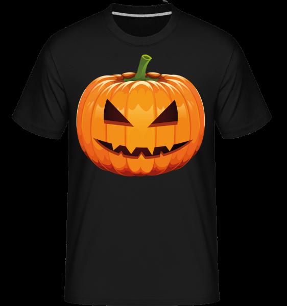 Grinning Pumpkin -  Shirtinator tričko pro pány - černá - Napřed