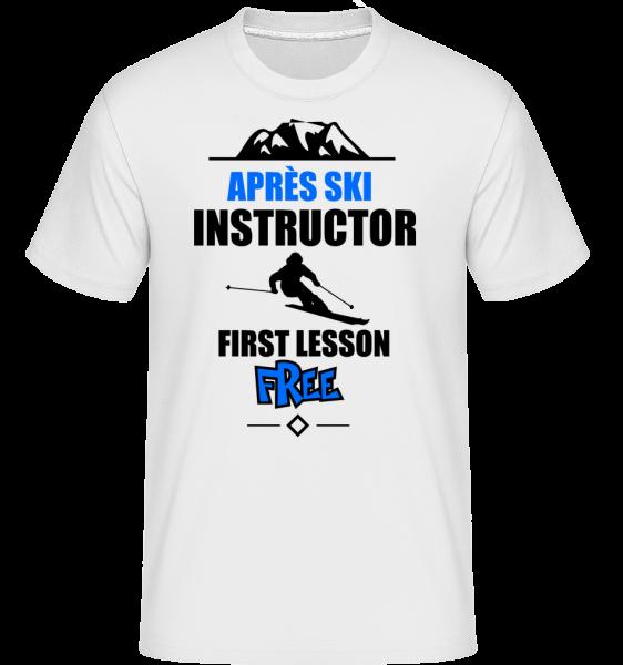 Après Ski Instruktor - Shirtinator tričko pro pány - Bílá - Napřed