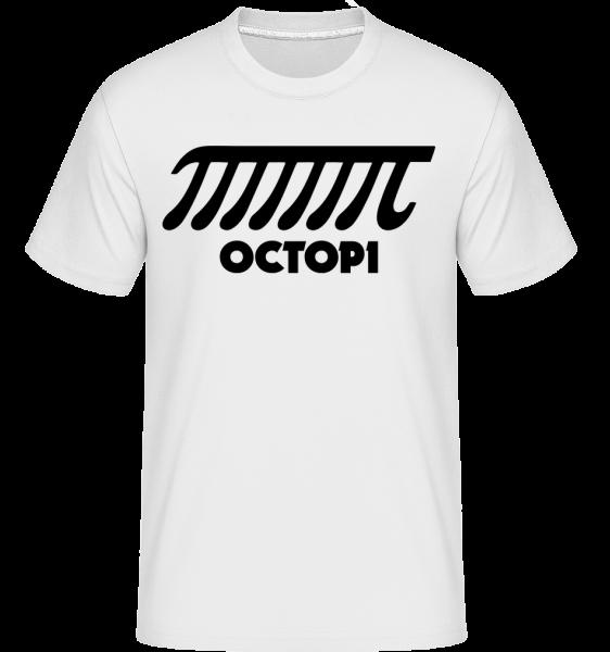 chobotnice -  Shirtinator tričko pro pány - Bílá - Napřed