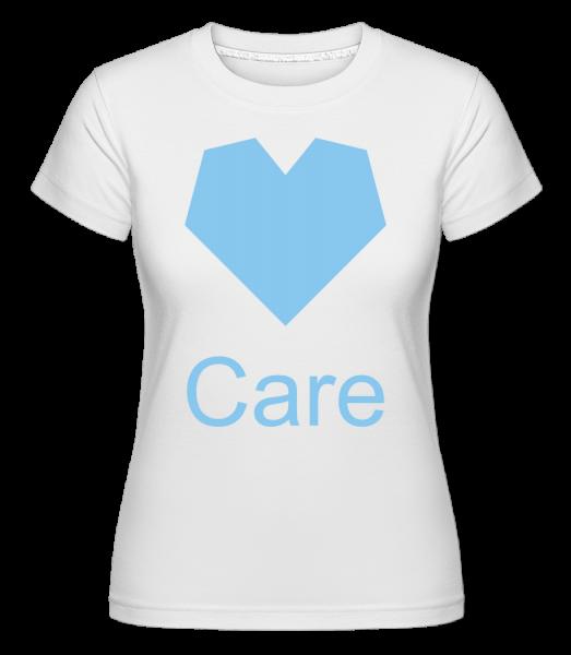 Care Heart -  Shirtinator tričko pro dámy - Bílá - Napřed