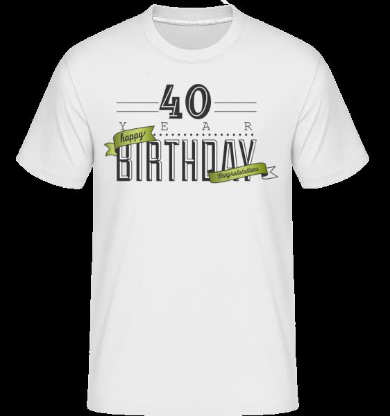 40 narozeniny znamení -  Shirtinator tričko pro pány - Bílá - Napřed