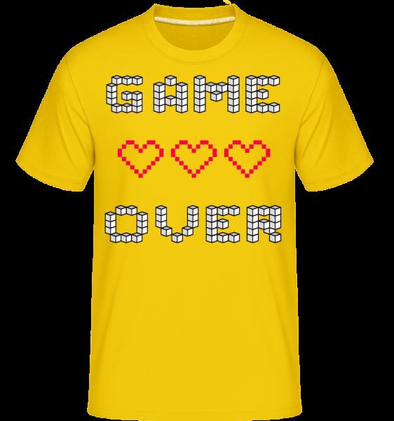Game over Hearts Sign -  Shirtinator tričko pro pány - Zlatožlutá - Napřed