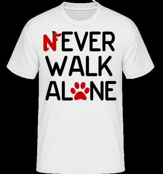 Never Walk Alone - Shirtinator tričko pro pány - Bílá - Napřed