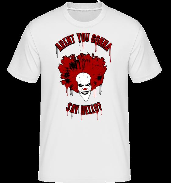 Nejsou řekneš Haló? -  Shirtinator tričko pro pány - Bílá - Napřed