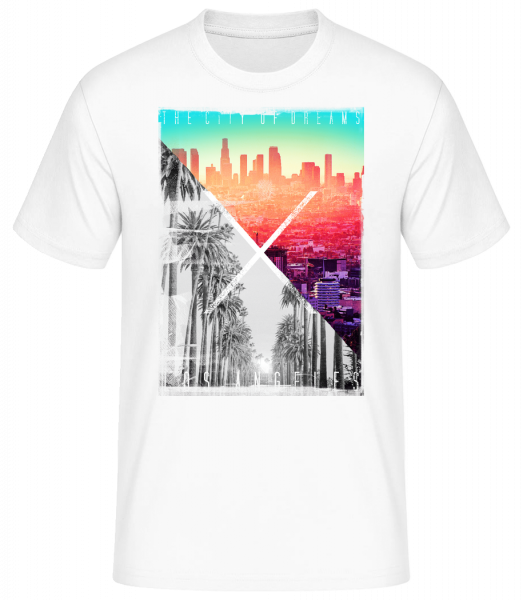 Los Angeles Dream - Basic T-Shirt - Bílá - Napřed