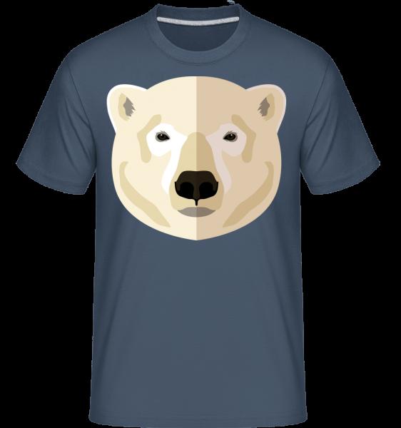 Polar Bear Comic Shadow -  Shirtinator tričko pro pány - Džínovina - Napřed