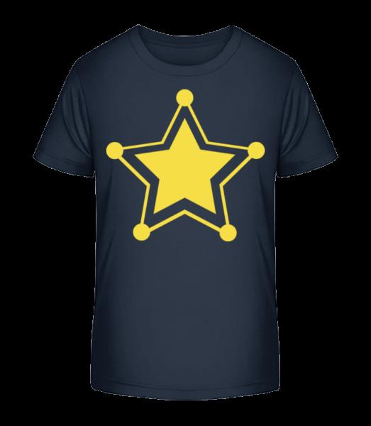 Star Icon Yellow - Detské Premium Bio tričko - Namořnická modrá - Napřed