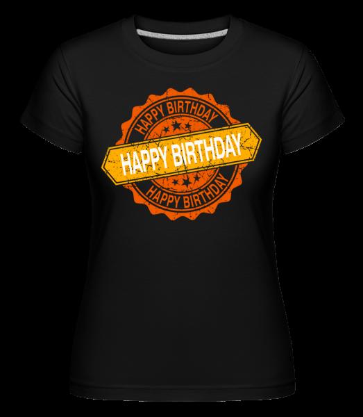 Všechno nejlepší k narozeninám Logo -  Shirtinator tričko pro dámy - Černá - Napřed