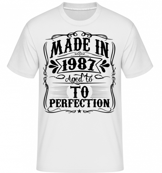 Ve věku Pro Perfektion - Shirtinator tričko pro pány - Bílá - Napřed