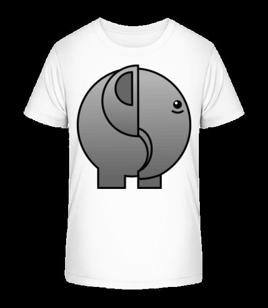 slon Comic - Detské Premium Bio tričko - Bílá - Napřed