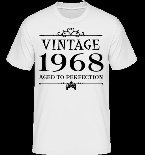 Vintage 1968 Perfection -  Shirtinator tričko pro pány - Bílá - Napřed