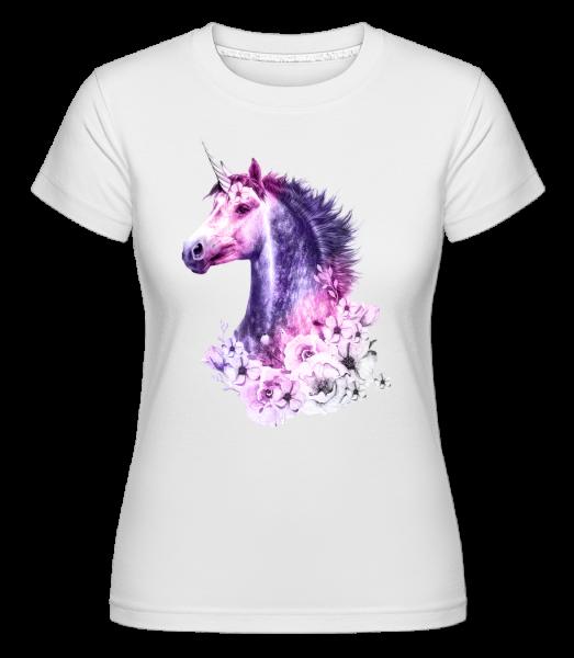 květiny Unicorn -  Shirtinator tričko pro dámy - Bílá - Napřed