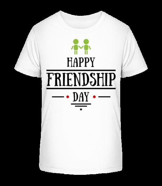 Šťastný Den přátelství - Detské Premium Bio tričko - Bílá - Napřed