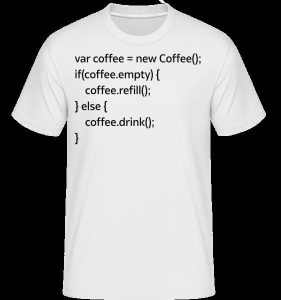 PHP Coffee -  Shirtinator tričko pro pány - Bílá - Napřed