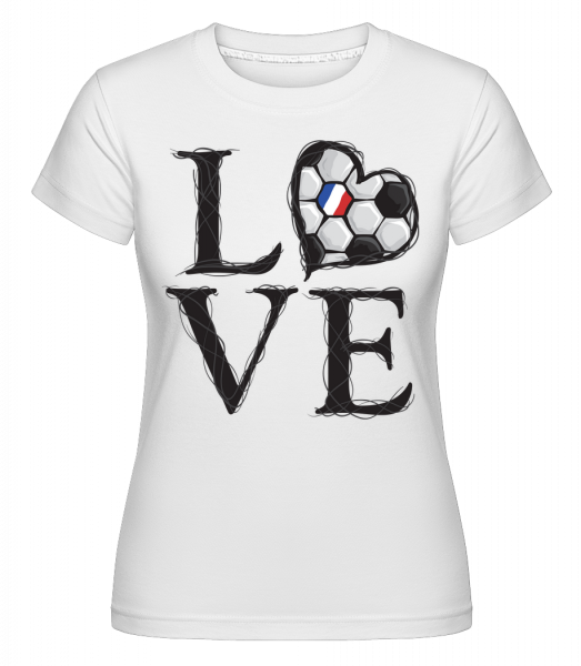 Football Love France -  Shirtinator tričko pro dámy - Bílá - Napřed