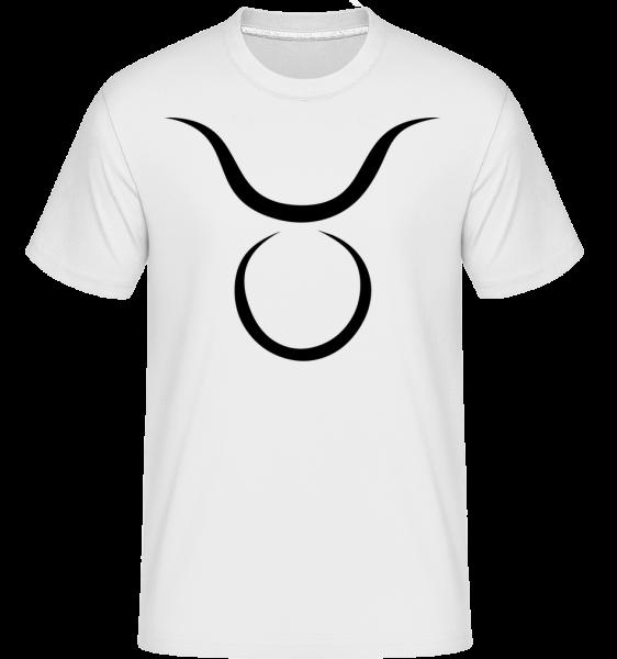 Taurus Znamení -  Shirtinator tričko pro pány - Bílá - Napřed