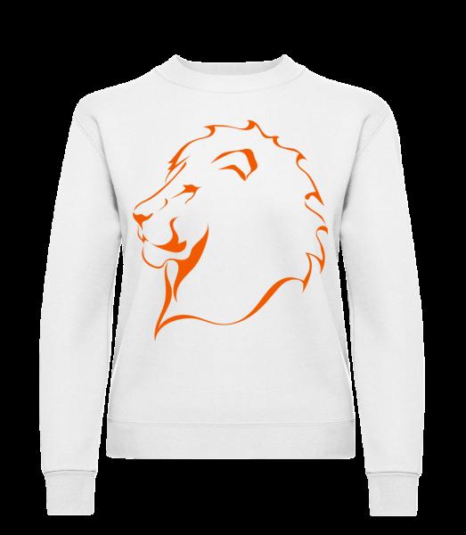 Lion - Klasická mikina pro dámy sg - Bílá - Napřed