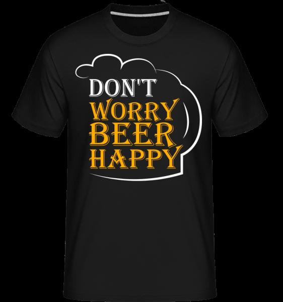 pivo Šťastný -  Shirtinator tričko pro pány - Černá - Napřed