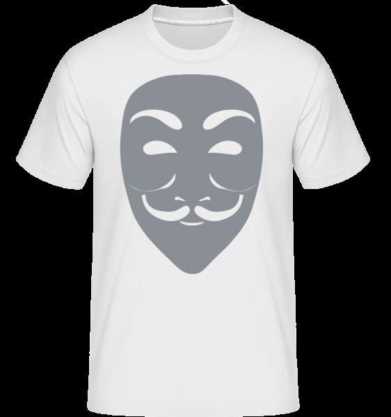Masque Icon Gray -  Shirtinator tričko pro pány - Bílá - Napřed